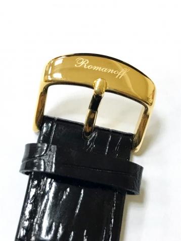 Ремень 20 мм к часам Romanoff (чёрный/белый)