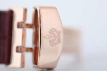 Ремень черный 20 мм к часам «Romanoff» с пряжкой butterfly